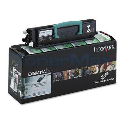 LEXMARK E450 TONER CARTRIDGE BLACK RP 6K